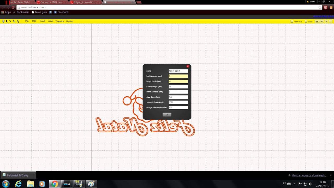 Tutorial 1 Como Transformar uma imagem em código G-Code -CNC