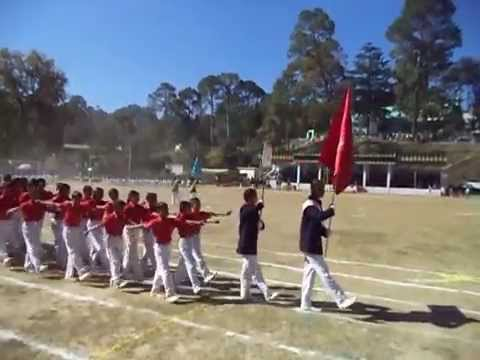March Past on Annual Sports Day 2014-2015 at APS Ranikhet