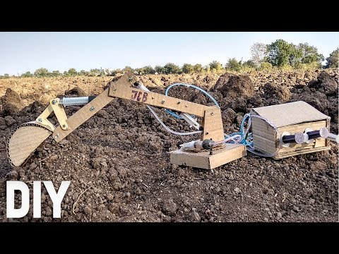 How to Make Hydraulic JCB Arm From Cardboard | Easy Do it Yourself JCB/Excavator ARM