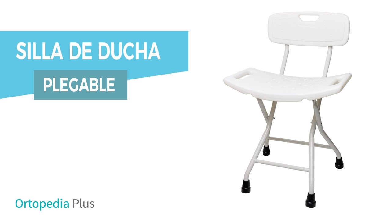 Silla de ducha plegable ortaid youtube for Sillas para ducha plegables
