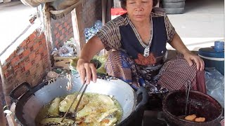 Street Food In Kampong Cham Province Fried Banana & Fried Cassava