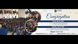 UG July 2018 Congregation : Friday 20th July - Morning Session thumbnail
