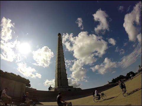 Cycling around Pyongyang, North Korea - Juche Tower
