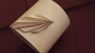 Toilettenpapier falten Origami Fächer
