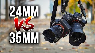 24mm VS 35mm Lenses for Travel Landscape & Street Photography!