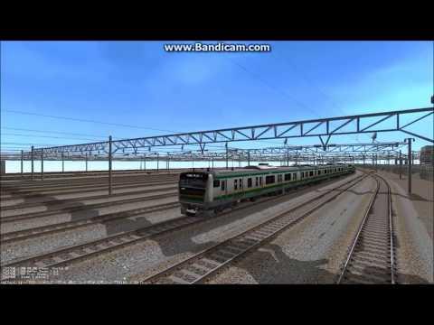 鉄道模型シミュレーター 電車庫より出庫→本線・外回りへ 編
