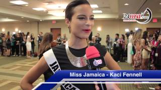 Interview Miss Jamaica - Kaci Fennell (24ora.com & itv Canal 49)
