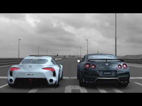Gran Turismo Sport Drag Race - Toyota FT-1 vs Nissan GT-R