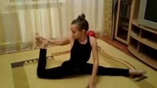Художественная гимнастика! Тренировка дома. training in rhythmic gymnastics(Мини- разминка по гимнастике., 2014-11-21T10:43:35.000Z)