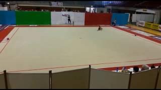 Alice Pigliapoco Campionato Nazionale Uisp 2017 Corpo Libero 1 classificata
