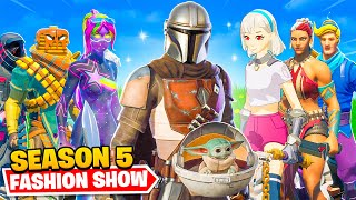 *NEW* SEASON 5 Fortnite FASHION SHOW... (Mandalorian, Baby Yoda + MORE)