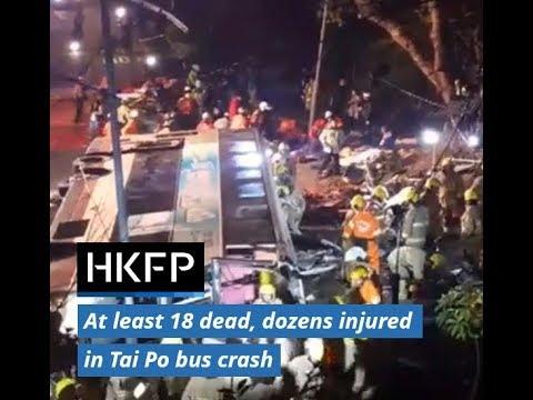 At least 18 dead, dozens injured in Hong Kong double-decker bus crash