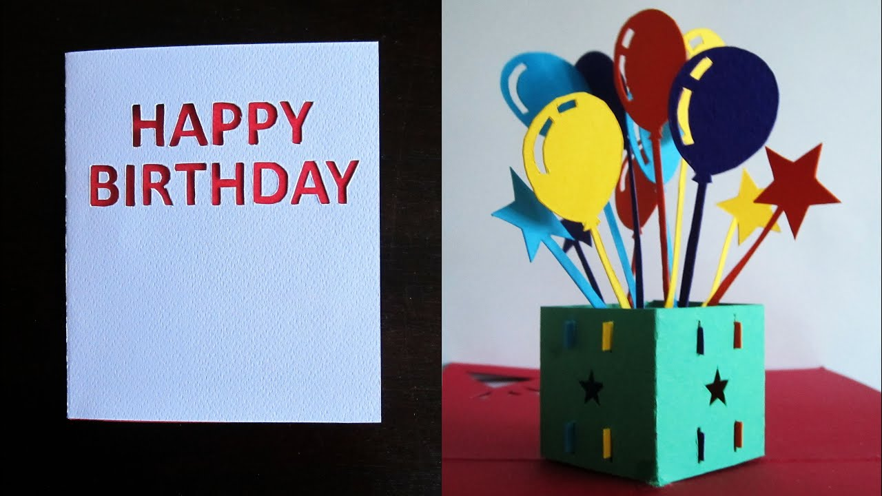 birthday card pop up box  learn how to make a birthday popup, Birthday card