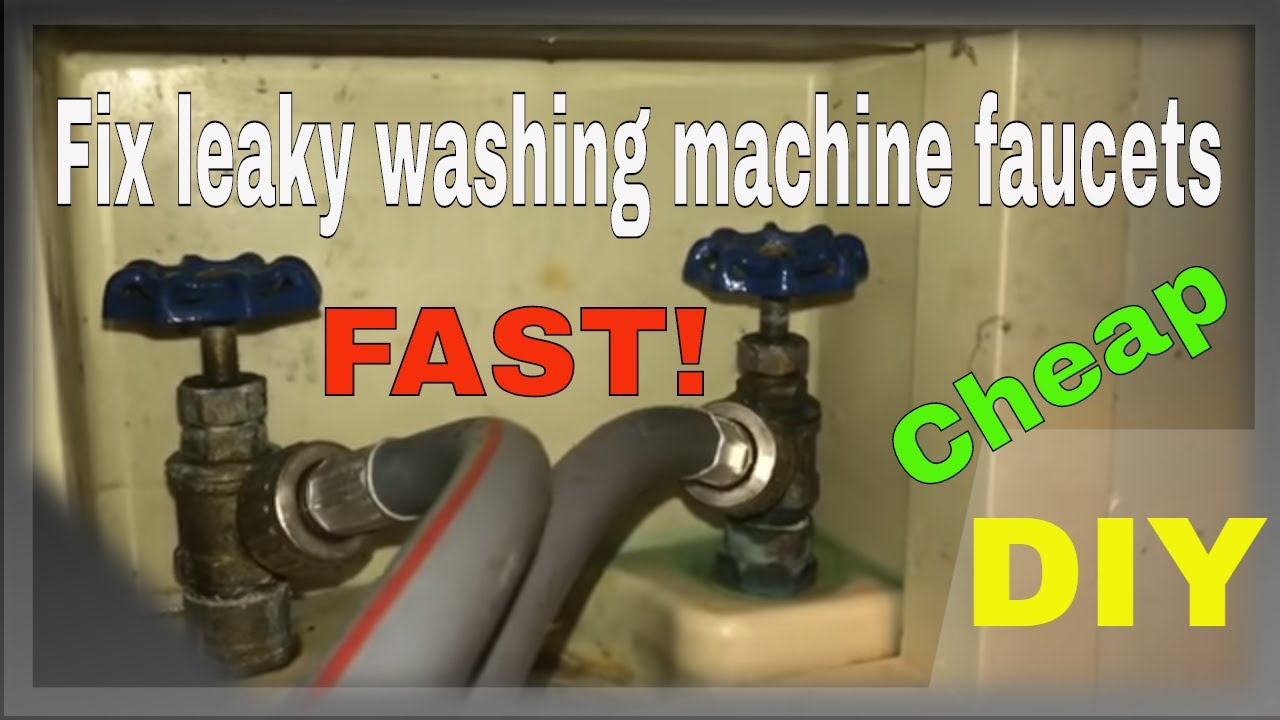 How to fix leaky washing machine faucets! - ForceTV 050 - YouTube