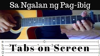 Sa Ngalan Ng Pag-ibig - December Avenue (Fingerstyle Guitar Cover) Tabs on Screen