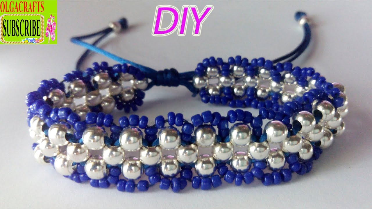 to knot beads bracelet square bracelets anklet watch adjustable make youtube string with how