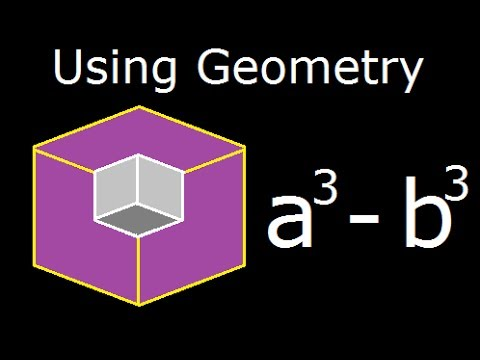 B Cube a cube minus b cube - a^3-b^3 - geometrical explanation and