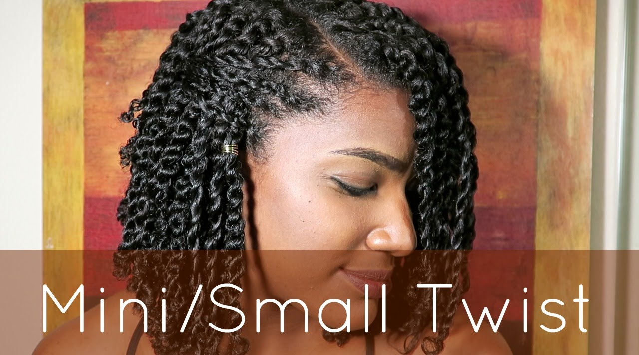 Natural Hair Minismall Twist Tutorial Youtube