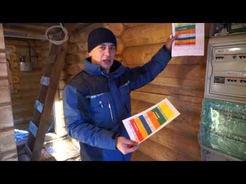 Электромонтаж в деревянном доме. Скрытый электромонтаж. Освещение.Система ZAMEL.