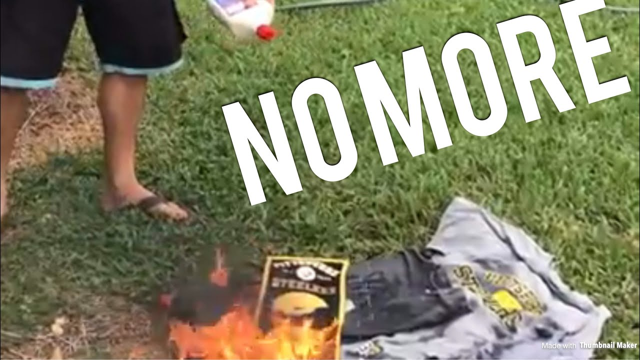 80317337247 Compilation: ex Steeler fans burning there Gear - YouTube