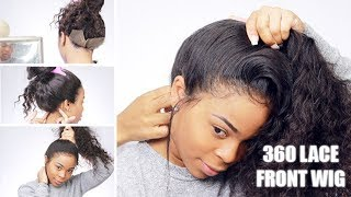 Showing & SECURING the back of a 360 LACE Front  WIG| WOWAFRICAN