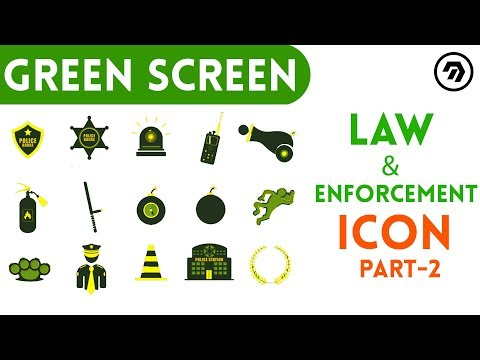 Green Screen Law & Enforcement Icon Part-2 | mrstheboss