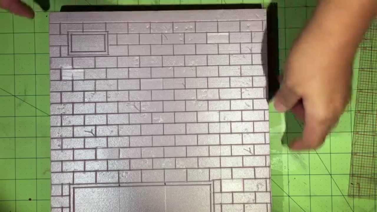 015 Tutorial Diorama Brick Walls From Start To Finish
