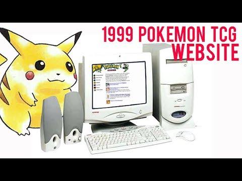 1999 Pokemon TCG Website Revisited - Retro HTML Pokemon Website