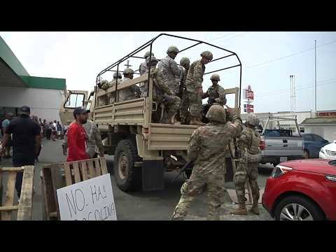 Puerto Rico's Guardsmen Provide Security at Gas Stations