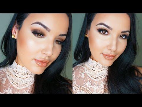 Kim Kardashian Inspired Effortless Glam Makeup