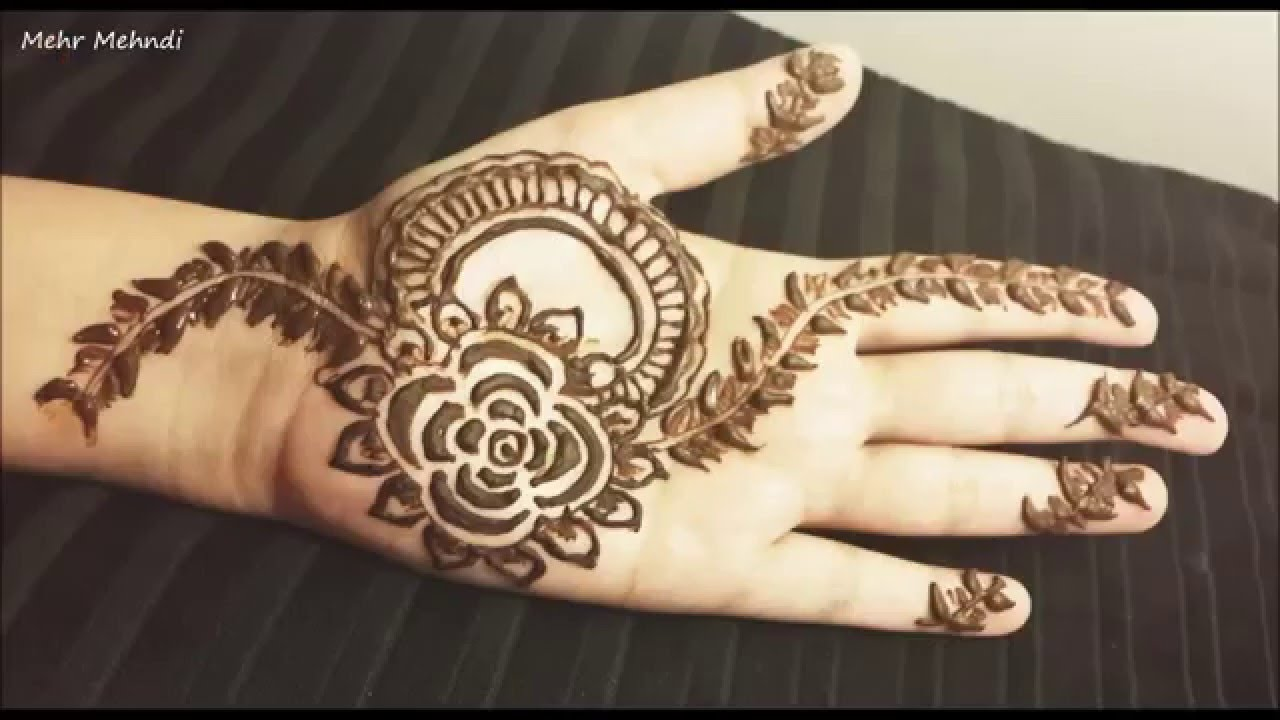 Simple Leaf Henna Easy Floral Mehendi Design Arabic Mehndi