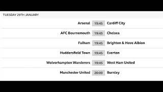 Premier League Fixtures 2018/19