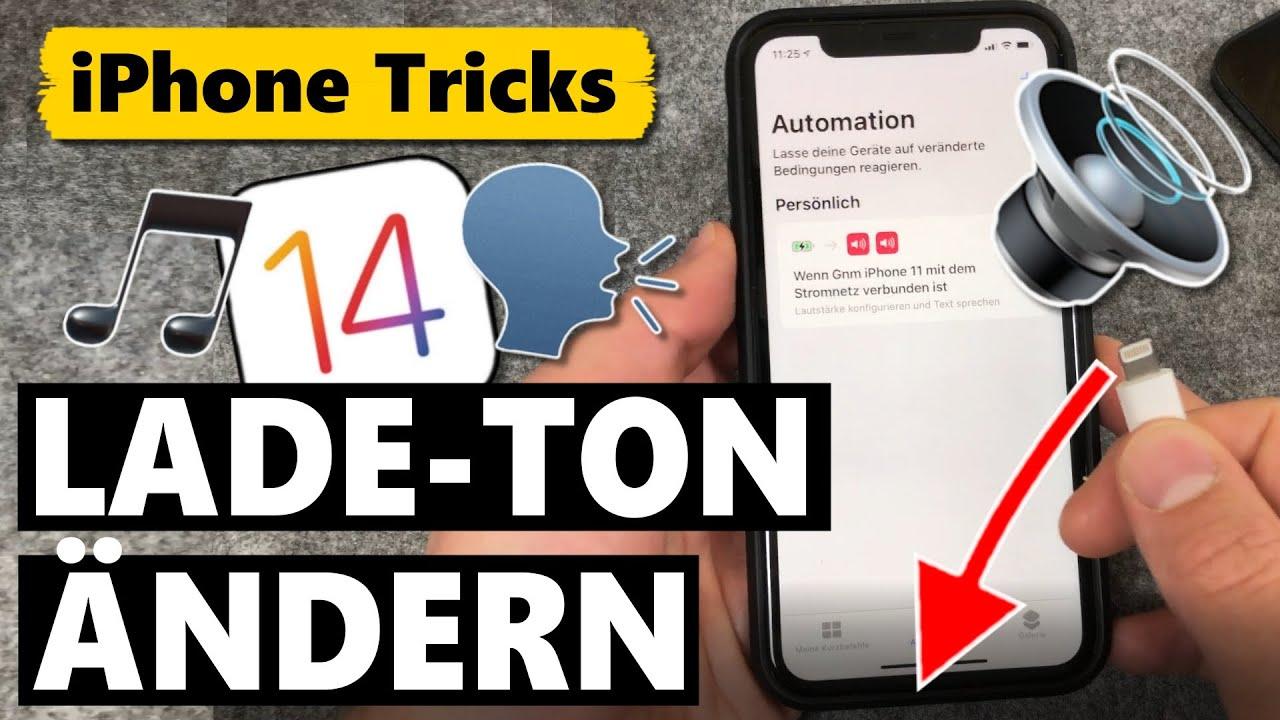Ladeton ändern & eigenen Sound oder Stimme einstellen 🔊🗣️🔌🔋 (iOS 14)