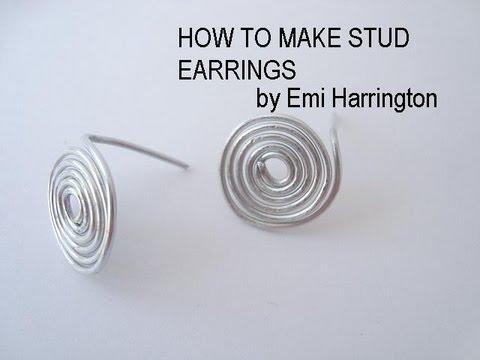 Jewelry Making How To Make Stud Earrings