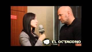 UFC 134 - Andrea Calle interviews Dana White