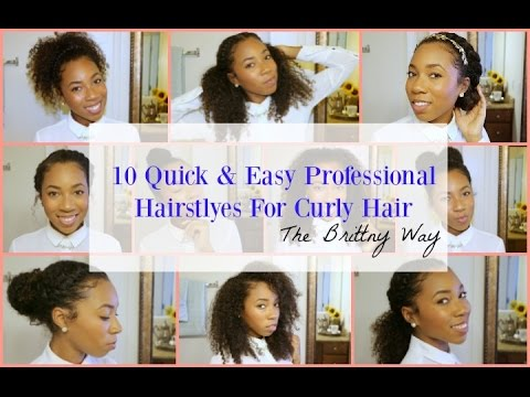 10 Quick & Easy Professional Hairstyles for Curly Hair