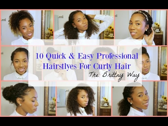10 Quick Easy Professional Hairstyles For Curly Hair Youtube