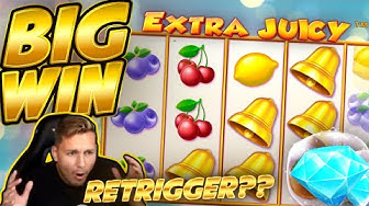 BIG WIN!!! Extra Juicy BIG WIN - Online slot played on CasinoDaddys stream