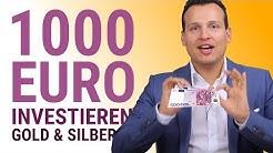 Wie 1000 EURO klug in Silber & Gold investieren?