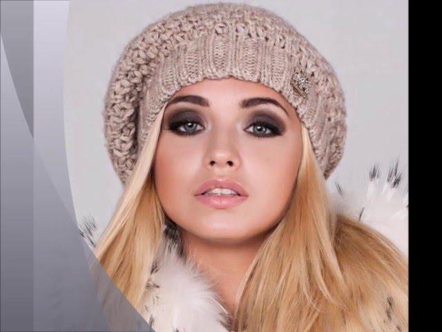 красивые вязаные шапки береты Hat с помпонами береты схема береты