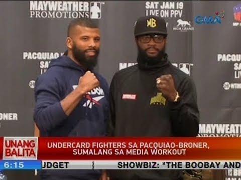 UB: Undercard fighters sa Pacquiao-Broner, sumalang sa media workout