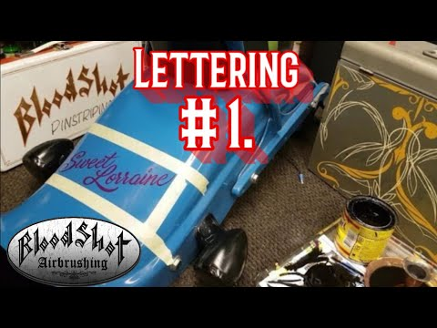 How To Hand Paint Lettering With 1SHOT Lettering Enamel.