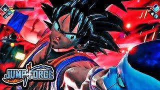 NEW Jump Force DEMO E3 2018 Gameplay - Kaioken Goku Special Move Vs Frieza Gameplay 1080p HD