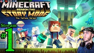 Minecraft Story Mode ⛺️⛏S2 EP 1+2+3🌞Pro💀All DLC💸PC💻Max✨#1st Stream🎋