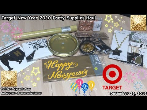 Target New Year 2020 Party Supplies Haul ...