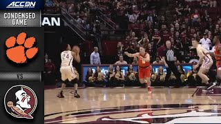 Clemson vs. Florida State Condensed Game | 2019-20 ACC Men's Basketball