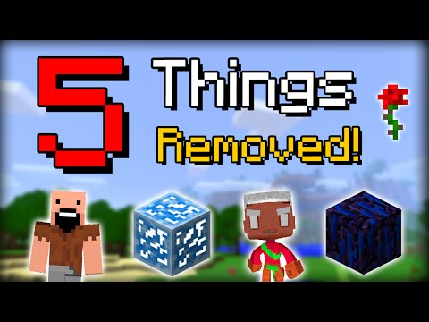 ✔ Minecraft: 5 Features Removed from PC