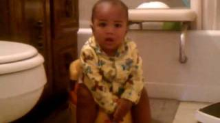 potty trained at eight months
