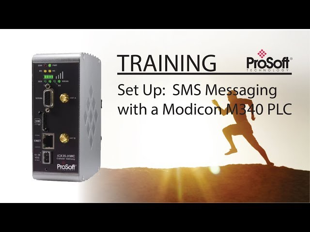 Set Up:  SMS Messaging with a Modicon M340 PLC