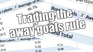 Betfair football trading - Profiting from the away goals rule